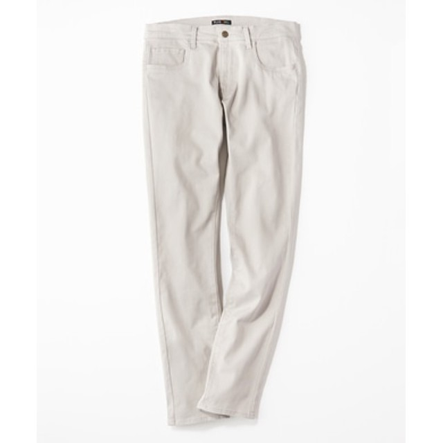 PLUS ONE 【WEB限定】24色スキニーパンツ メンズ【店舗裾上げ不可】 ライトグレー