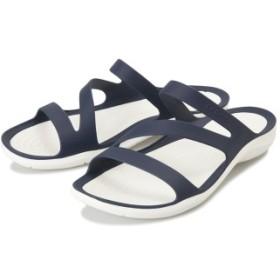 【crocs】 クロックス Swiftwater Sandal W スイフトウォーターサンダル 203998-462 Navy/White 25cm