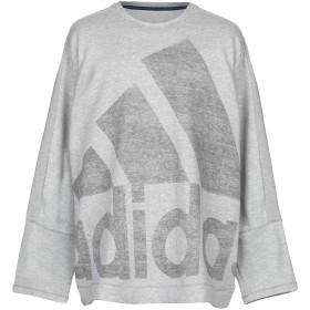 《期間限定 セール開催中》ADIDAS メンズ スウェットシャツ ライトグレー XXL コットン 88% / ポリエステル 12%