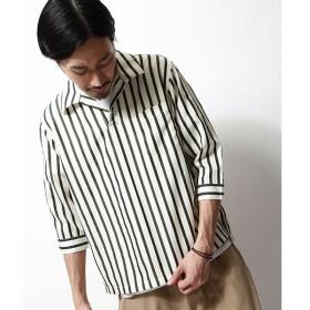[マルイ] T/Cブロード7分袖スキッパーオープンカラーシャツ/ジップファイブ(ZIP FIVE)