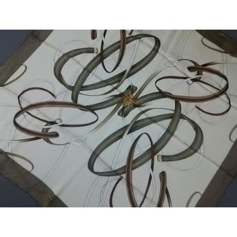 【中古】 グッチ GUCCI スカーフ 美品 276748 3G001 9265 アイボリー カーキ ボルドー