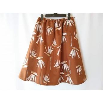 【中古】 トゥモローランド スカート サイズ36 S レディース ブラウン ライトブラウン マルチ 花柄