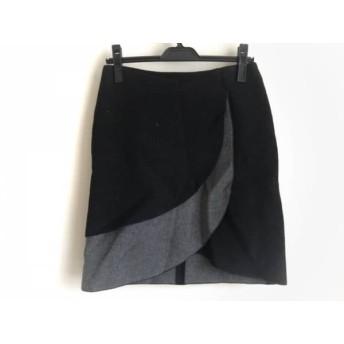 【中古】 エンポリオアルマーニ EMPORIOARMANI スカート レディース 黒 グレー