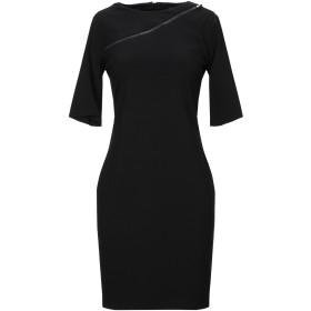 《セール開催中》MARIELLA ROSATI レディース ミニワンピース&ドレス ブラック 40 レーヨン 68% / ナイロン 27% / ポリウレタン 5%
