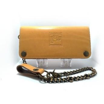 【中古】 ビューティービースト beauty: beast 長財布 ライトブラウン 型押し加工 レザー