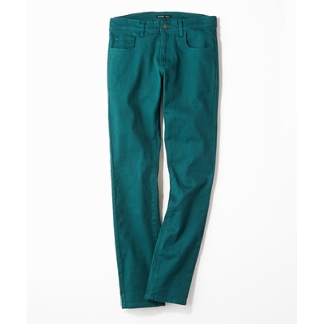 PLUS ONE 【WEB限定】24色スキニーパンツ メンズ【店舗裾上げ不可】 ダークグリーン