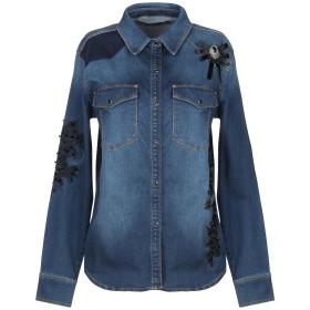 《期間限定セール開催中!》RELISH レディース デニムシャツ ブルー S コットン 98% / ポリウレタン 2%