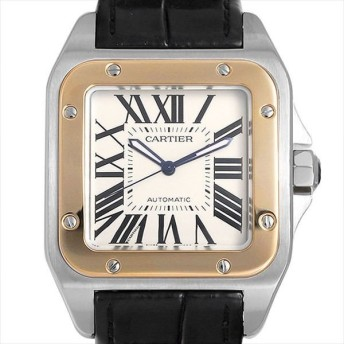 48回払いまで無金利 カルティエ サントス100 LM W20072X7 中古 メンズ 腕時計 キャッシュレス5%還元