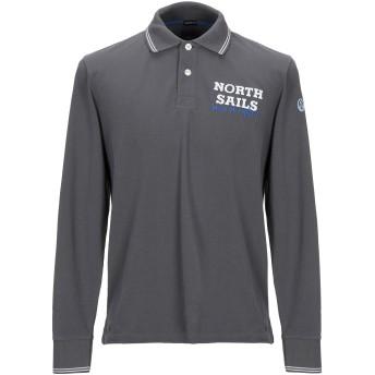 《期間限定セール開催中!》NORTH SAILS メンズ ポロシャツ 鉛色 S コットン 100%