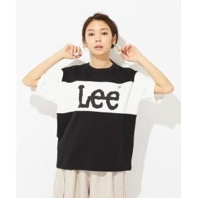 Lee BIGフィットパネルTシャツ レディース ブラック