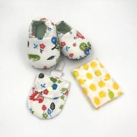 スカーフアニマルブルー - Mi Yueギフトボックス(幼児用靴+ Ping Fuバッグ+ハンカチ)