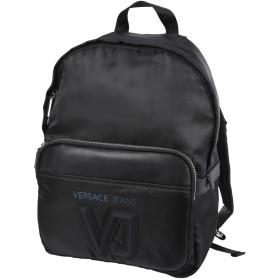 《セール開催中》VERSACE JEANS メンズ バックパック&ヒップバッグ ブラック ポリエステル 100%