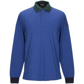 《期間限定セール開催中!》AERONAUTICA MILITARE メンズ ポロシャツ パープル L コットン 95% / ポリウレタン 5%