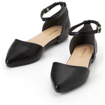 セパレートアンクルストラップシューズ(低反発中敷)(ワイズ4E) シューズ(フラットシューズ) Shoes