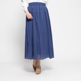 コムサイズム COMME CA ISM ギャザースカート (ブルー)