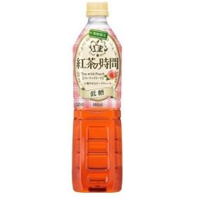 紅茶の時間 ティーウィズピーチ 低糖 ( 930mL12本入 )/ 霧の紅茶