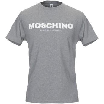 《9/20まで! 限定セール開催中》MOSCHINO メンズ アンダーTシャツ グレー XS コットン 98% / ポリウレタン 2%