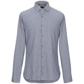 《期間限定セール開催中!》AGLINI メンズ シャツ ダークブルー 38 コットン 100%