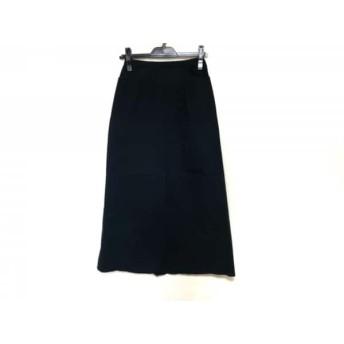【中古】 ヒロコビス HIROKO BIS ロングスカート サイズ9 M レディース 黒