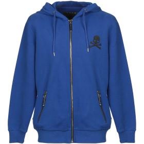 《期間限定 セール開催中》PHILIPP PLEIN メンズ スウェットシャツ ブライトブルー 3XL コットン 100%