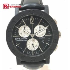573785f16c あす着 BVLGARI ブルガリ BB38CLCH パリ限定 クロノグラフ 腕時計 ブラック