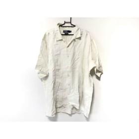 【中古】 ポロラルフローレン POLObyRalphLauren 半袖シャツ サイズXL メンズ アイボリー 麻