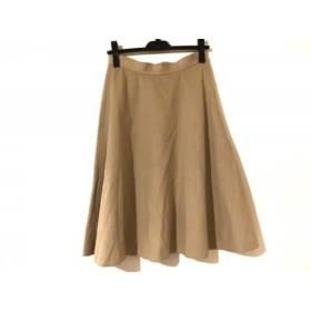 【中古】 アンナモリナーリ ANNA MOLINARI スカート サイズ38 S レディース ベージュ