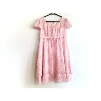 【中古】 レッセパッセ LAISSE PASSE ワンピース サイズ38 M レディース ピンク パープル 花柄
