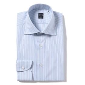 BEAMS F / サンドストライプ ワイドカラーシャツ メンズ ドレスシャツ LT. BLUE/01 43
