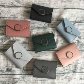 その他財布 - PlusNao 財布 レディース ウォレット 二つ折り 薄い 薄型 カード入れ多い 折りたたみ 軽量 収納 小さい 小さめ 使いやすい 三つ折り ミニ未使用 兼用 コンパクト パース 札入れ コインケース ファッション小物 無地 PU 合成皮革 フェイクレザー