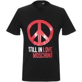 《9/20まで! 限定セール開催中》LOVE MOSCHINO メンズ T シャツ ブラック L コットン 95% / ポリウレタン 5%