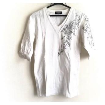 【中古】 トルネードマート TORNADO MART 七分袖Tシャツ メンズ 白 グレー ラメ