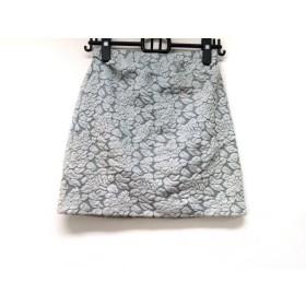 【中古】 アプワイザーリッシェ スカート サイズ2 M レディース ライトブルー ライトグレー