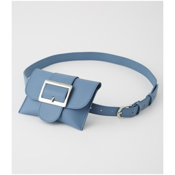 【50%OFF】 アズールバイマウジー SQUARE BUCKLE PORCH SET BELT レディース BLU FREE 【AZUL BY MOUSSY】 【セール開催中】
