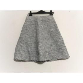 【中古】 トゥービーシック TO BE CHIC スカート サイズ38 M レディース 白 ライトグレー 黒