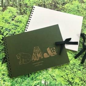 KUMA3 活版印刷表紙のスケッチブック(オリーブ)