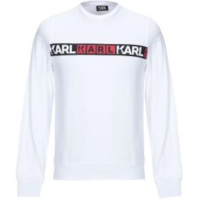 《期間限定セール開催中!》KARL LAGERFELD メンズ スウェットシャツ ホワイト XL コットン 100%