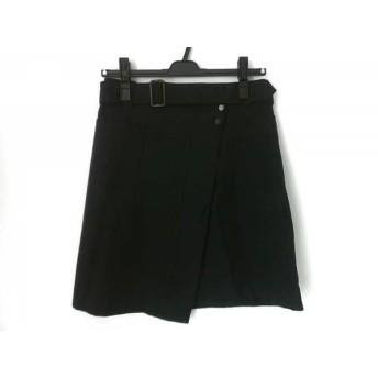 【中古】 トゥモローランド TOMORROWLAND 巻きスカート サイズ34 S レディース 黒 MACPHEE