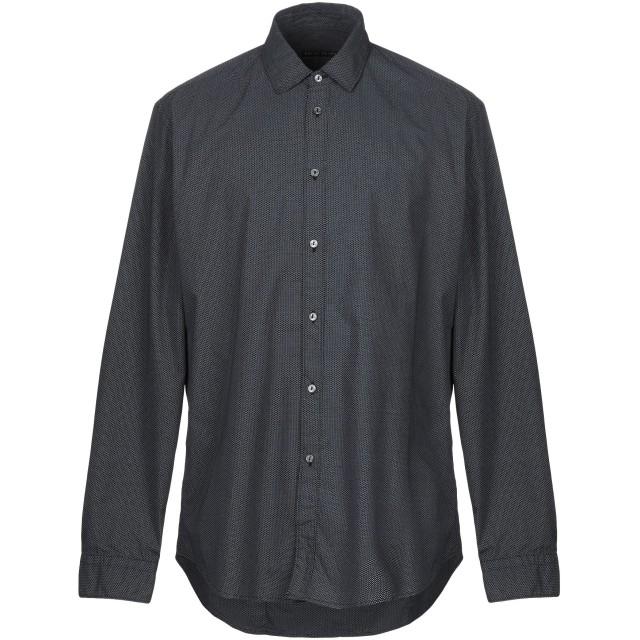 《期間限定セール開催中!》BRIAN DALES メンズ シャツ ダークブルー 45 コットン 100%