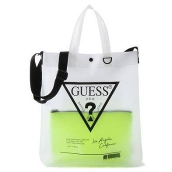 GUESS ゲス TRIANGLE LOGO CLEAR TOTE BAG