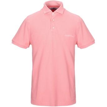 《9/20まで! 限定セール開催中》DELLA CIANA メンズ ポロシャツ サーモンピンク 48 コットン 100%
