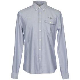《期間限定セール開催中!》AERONAUTICA MILITARE メンズ シャツ ブルー M コットン 100%