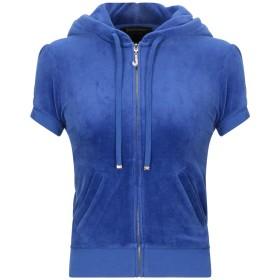 《期間限定 セール開催中》JUICY COUTURE レディース スウェットシャツ ブルー XS コットン 78% / ポリエステル 22%