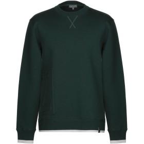 《期間限定 セール開催中》LANVIN メンズ スウェットシャツ ダークグリーン XS バージンウール 75% / ナイロン 25% / レーヨン / ポリウレタン