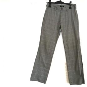 【中古】 バーバリーブラックレーベル パンツ サイズ73 メンズ 黒 アイボリー ピンク マルチ