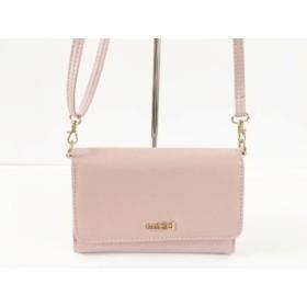 【中古】 スナイデル snidel ショルダーバッグ 美品 ピンク ウォレットバッグ 合皮