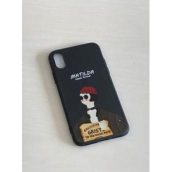 iPhone Xs MAX 映画LON 携帯ケース スマホカバー TPU ブラック マチルダ