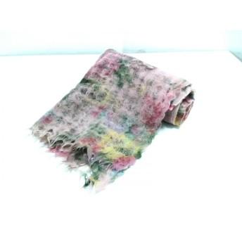 【中古】 エピス EPICE ストール(ショール) 美品 ピンク マルチ 花柄 ウール