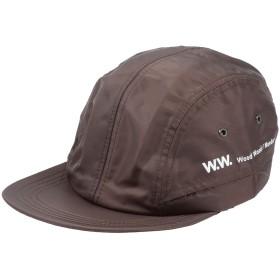 《期間限定セール開催中!》WOOD WOOD メンズ 帽子 ダークブラウン one size ポリエステル 100%