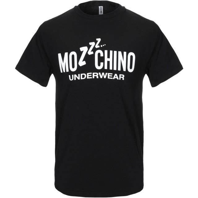 《9/20まで! 限定セール開催中》MOSCHINO メンズ アンダーTシャツ ブラック XS コットン 92% / ポリウレタン 8%
